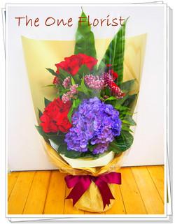 12枝玫瑰繡球花束 網上花店 (BQ-12)