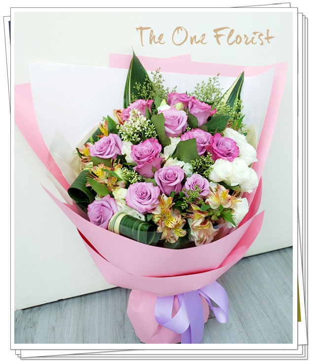 (MD-A10)母親節紫玫瑰花束