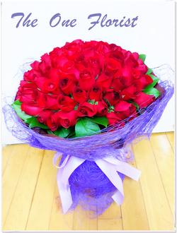 99枝紅玫瑰花束 網上花店 (BQ-35)