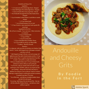 Andouille Cheesy Grits
