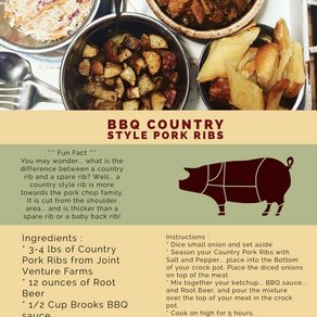 BBQ Country Style Pork Ribs
