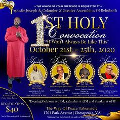 Bishop Colander Holy Convocation without