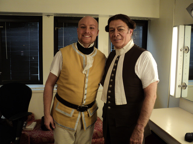 Sam Ramey and me in Il barbiere di Siviglia at the Met