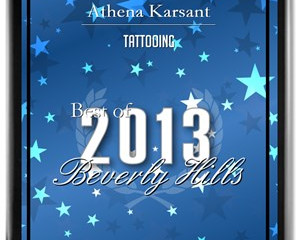 PRESS: Athena Receives 2013 Best of Beverly Hills Award for Tattooing
