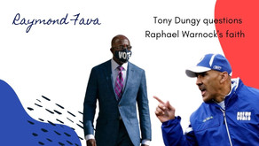 Tony Dungy questions Raphael Warnock's faith