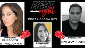 Fight Night (Spanish): The Progressive (Elizabeth Ruf-Maldonado) vs The Conservative (Bobby Lopez)