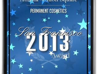 PRESS: Athena Receives 2013 San Francisco Award for Permanent Cosmetics