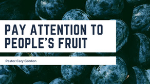 Pay attention to people's fruit