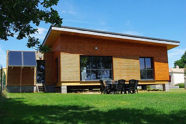 Galerie photos projet ossature bois maisons et extension for Extension maison 85