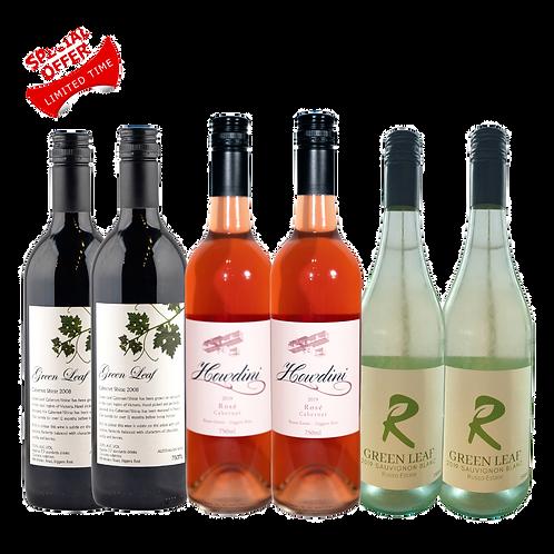 Red, White & Rose Wine 6 Pack