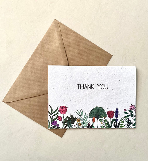 Thank you, Plantable Greeting Card