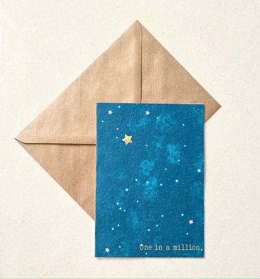 One in a million, Plantable Greeting Card