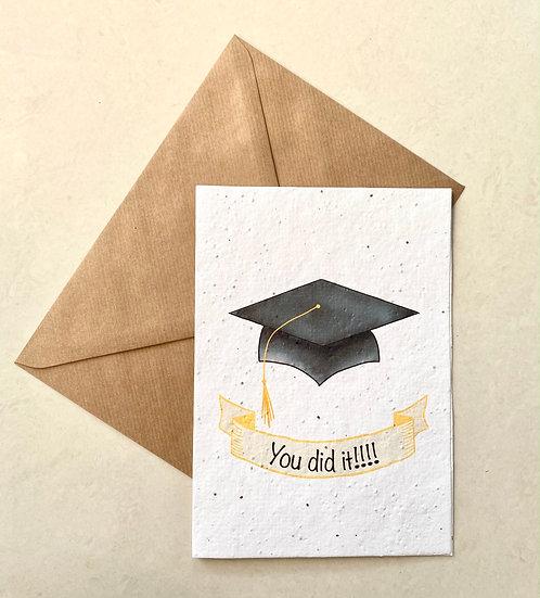 Graduation, Plantable Greeting Card