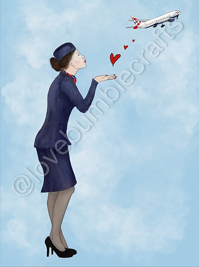 Female Personalised  Airline Picture