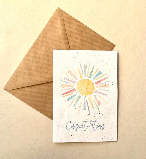 Congratulations, Plantable Greeting Card