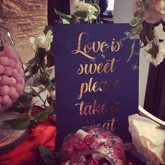 Small Wedding Signage
