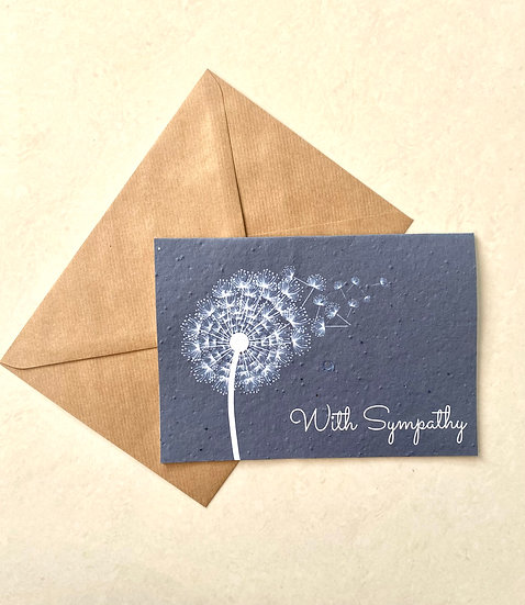 With Sympathy, Plantable Greeting Card