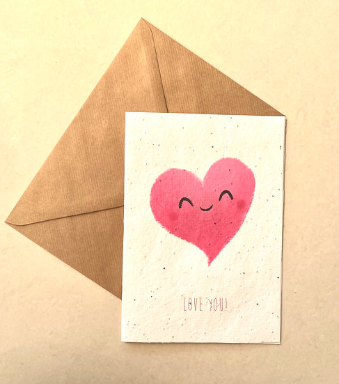 Love you! Plantable Greeting Card