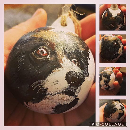 Pet Portrait Ceramic Christmas Baubles
