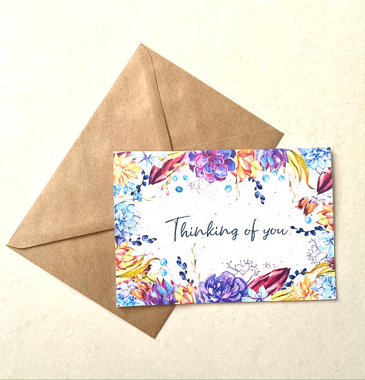 Thinking of you, Plantable Greeting Card