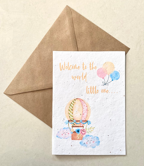 Welcome to the World Plantable Greeting Card
