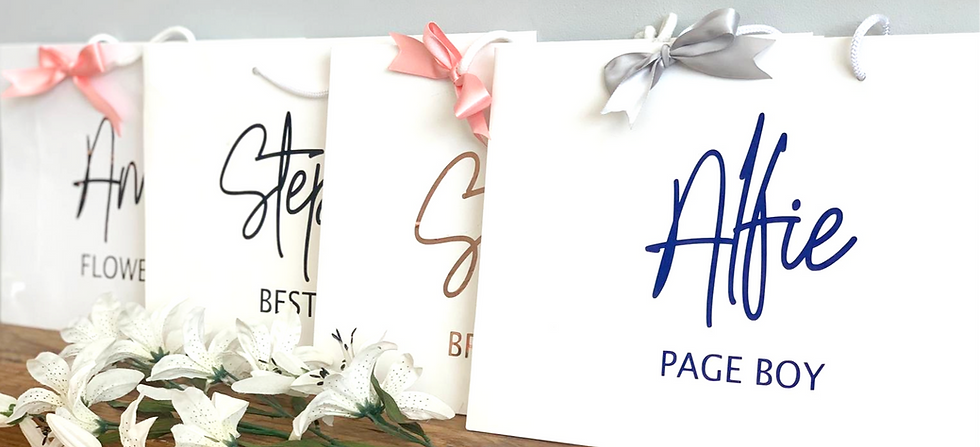 Personalised White Gloss Gift Bag