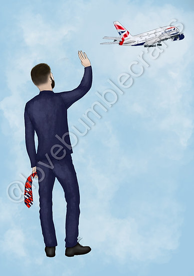 Male Personalised  Airline Picture