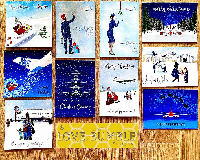 Individual Aviation Christmas Cards