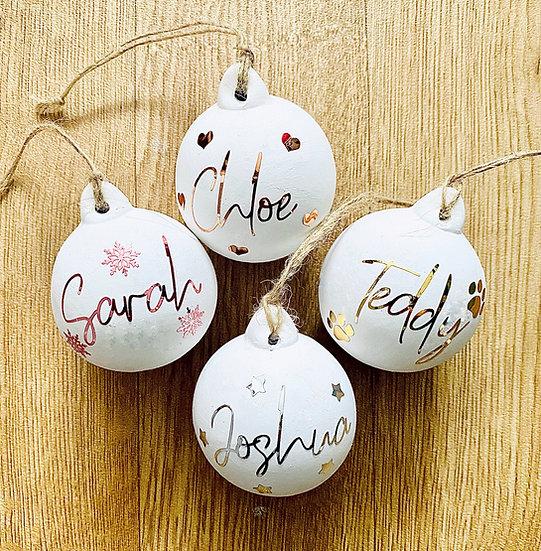 Ceramic Christmas Baubles
