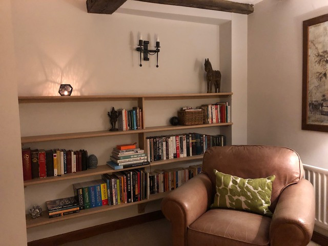 Oak shelves