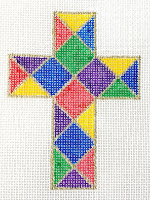 C-02 stained glass cross