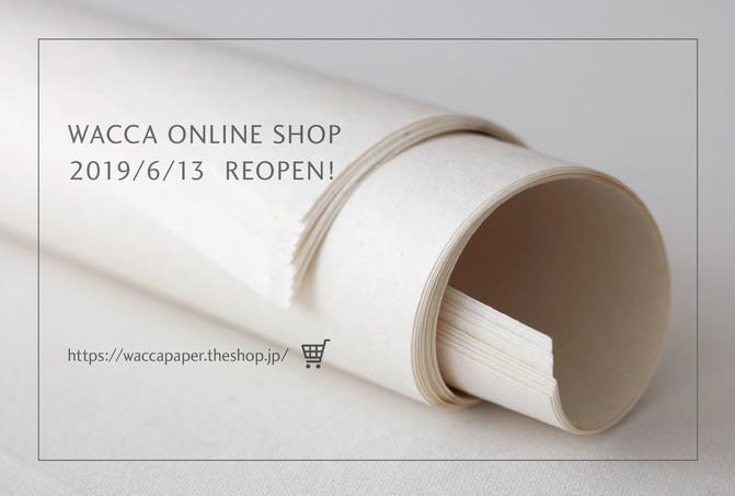 WACCA ONLINE SHOP 移転のお知らせ