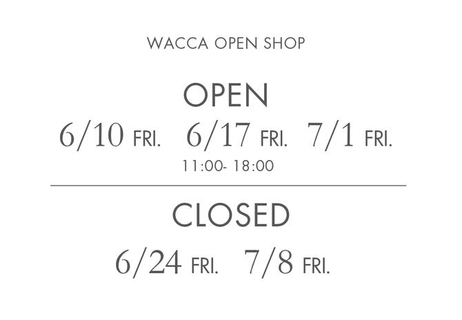 OPEN SHOP休業日のお知らせ