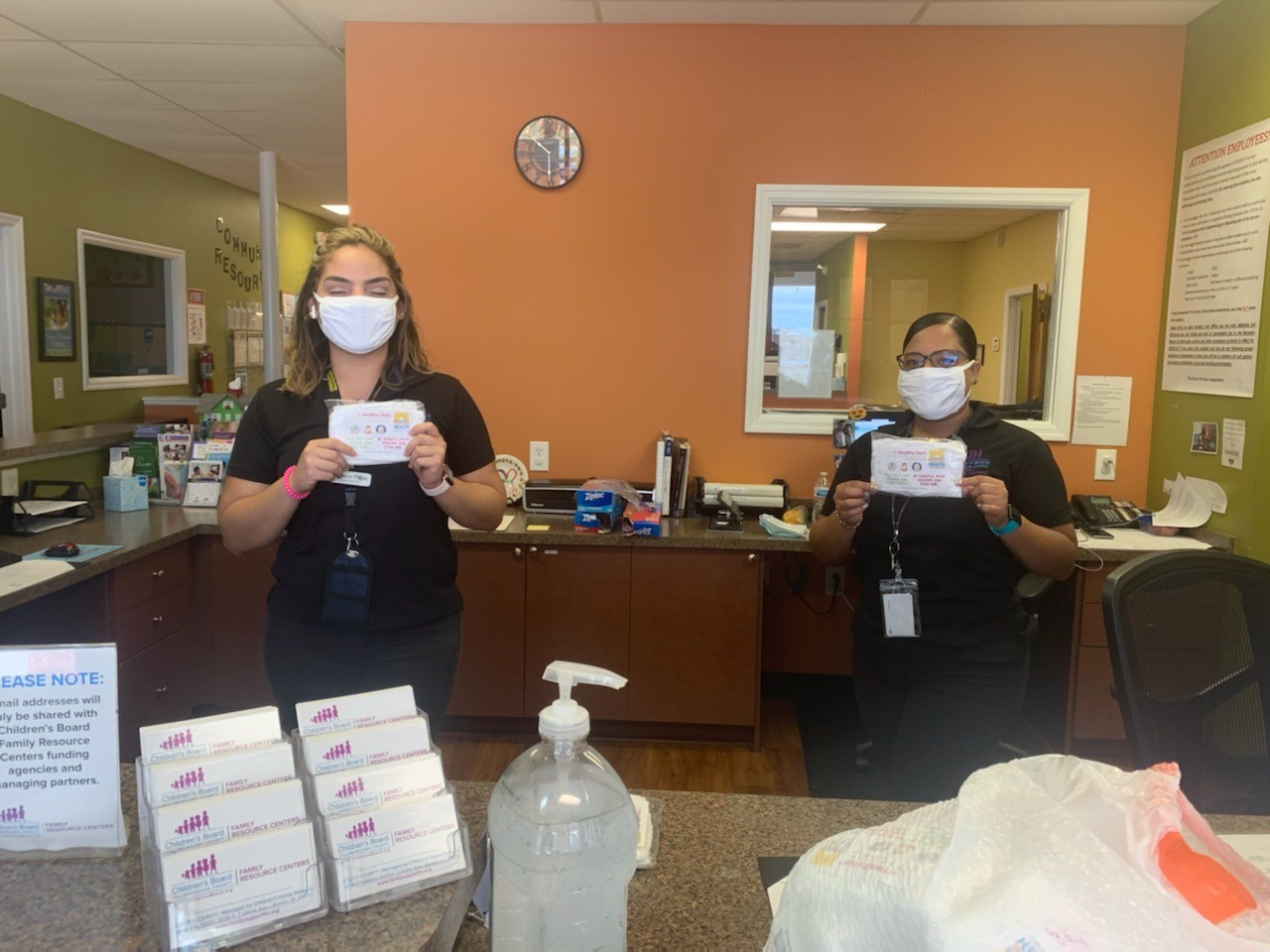 Masks delivered to CBFRCs
