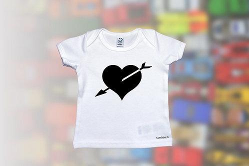 """T-Shirt """"Herz und Pfeil"""" Babys"""