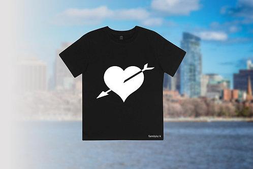 """T-Shirt """"Herz und Pfeil"""" Kinder"""
