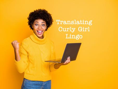 Translating Curly Girl Lingo: A Glossary
