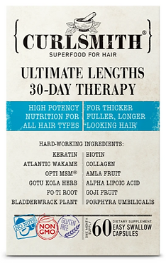 Curlsmith Ultimate Lengths 30-Day Therapy Hair Growth Supplements