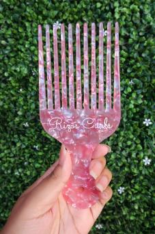 Rizos Curls Pink Hair Pick Comb