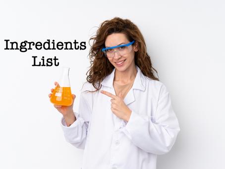 Curly Girl Ingredients List