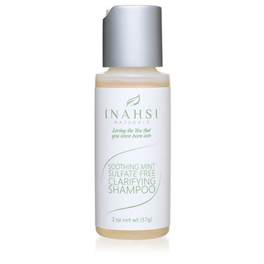 Inahsi Naturals Soothing Mint Sulfate Free Clarifying Shampoo 2oz/57gm