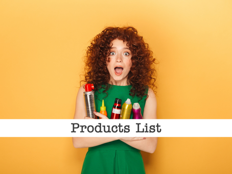 Curly Girl Products List - Filterable