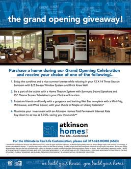 Atkinson Homes - Promotion Sheet