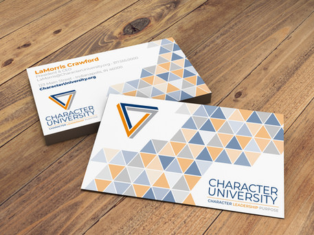 Character University Business Card