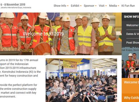 International Expo Konstruksi Indonesia 6 - 8 November 2019 Jakarta , Indonesia