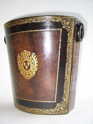 Corbeille cuir veau XVIIIème siècle