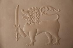 Cuirgaufré embléme dfuS ri Lanka