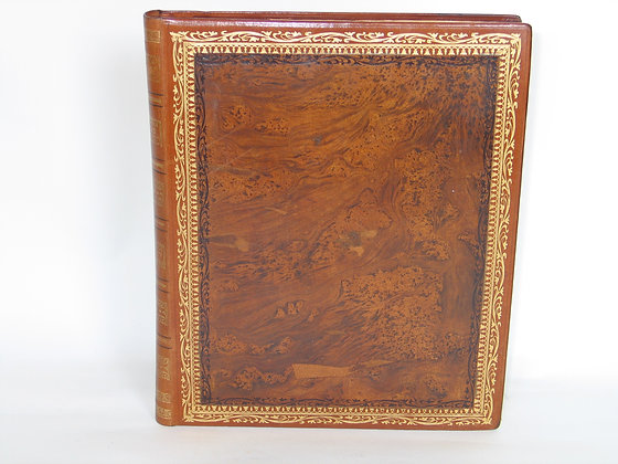 Agenda cuir XIXème siècle