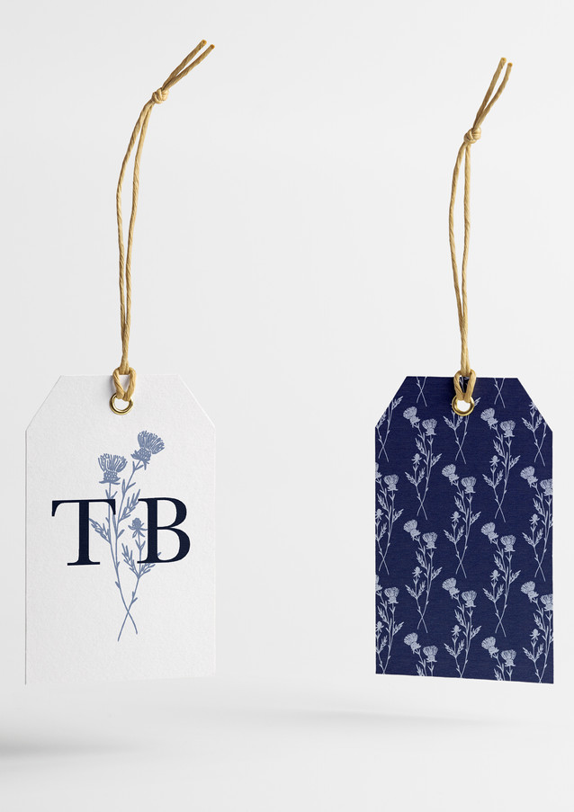 Branding | Thistle Blue Hang Tags