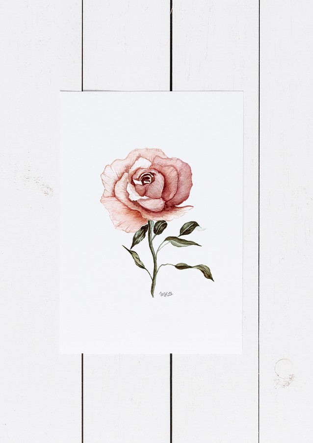 Art & Illustration| Watercolor Floral Painting